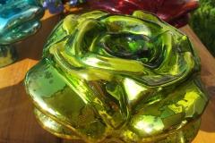 Rose offen grün Rosenkugel