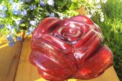 Rose offen rot Rosenkugel