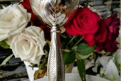 Gehämmert silber Brautstrauß