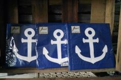 Servietten Blau Anker maritim