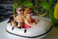 Schlauchboot Spardose Sparkasse