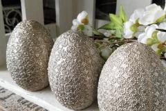 Ornament Eier Glitzer