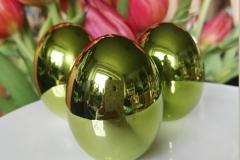Hochglanz Eier grün