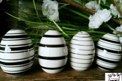 Eier Streifen weiß schwarz