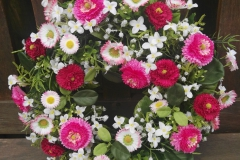 Bellis Blumenkranz Rosa