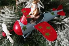 Flugzeug Metall Santa