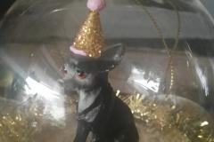 Chihuahua Glaskugel