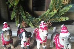 Hunde Tischdeko Pullover