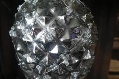 Zapfen Glas Silbern